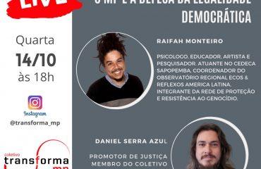 Live: Criminalização da juventude – O MP e a defesa da legalidade democrática